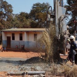 Drilling underway for the Sachinbondu borehole
