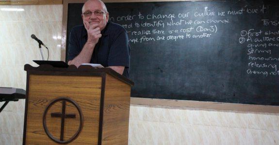 Dave Day teaching in Chennai