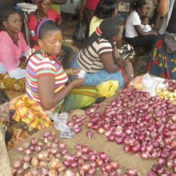 Women selling produce in Zambia market
